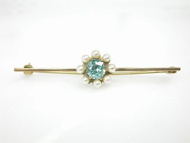 70887-March/Zircon Floral Brooch Cynthia Findlay Antiques CFA1303323
