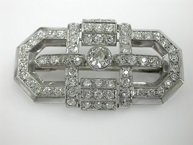70925-April/Art Deco Diamond Brooch Cynthia Findlay Antiques CFA1303338