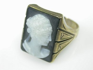 70925-April/Cameo Ring Cynthia Findlay Antiques CFA1303396