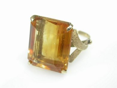 70925-April/Citrine Ring Cynthia Findlay Antiques CFA130423