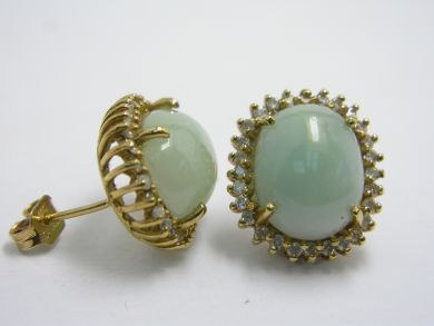 70926-April/Jade Earrings Cynthia Findlay Antiques 104049AN