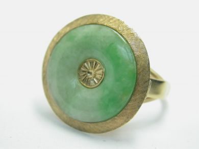 70926-April/Jade Ring Cynthia Findlay Antiques 104034AN