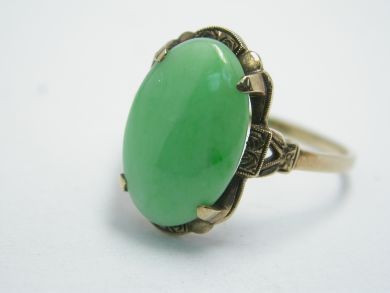 70926-April/Vintage Jade Ring Cynthia Findlay Antiques 104039AN
