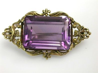 71027-April/Antique Amethyst Brooch Cynthia Findlay Antiques CFA130461