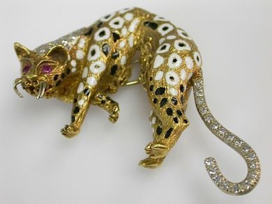 71027-April/Leopard Brooch Cynthia Findlay Antiques CFA130460