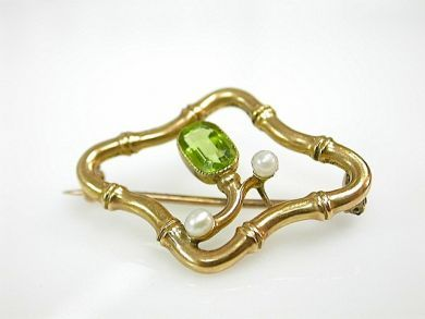71027-April/Victorian Peridot Brooch Cynthia Findlay Antiques CFA130454