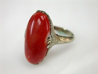 71027-April/Vintage Coral Ring Cynthia Findlay Antiques CFA130430