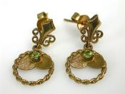 Antique Peridot Earrings