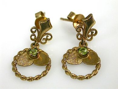 71089-April/Antique Peridot Earrings Cynthia Findlay Antiques CFA130498