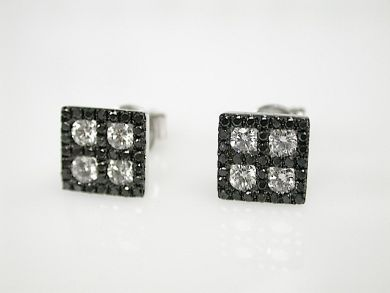 71092-April/Black and White Diamond Earrings CFA1304105