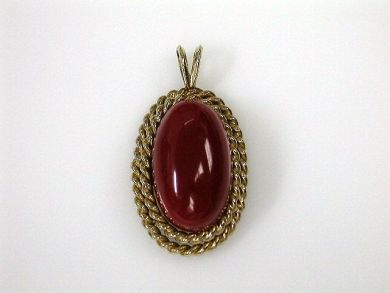 71092-April/Coral Pendant Cynthia Findlay Antiques CFA1211417
