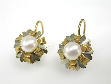 71092-April/Pearl Drop Earrings Cynthia Findlay Antiques CFA1304109