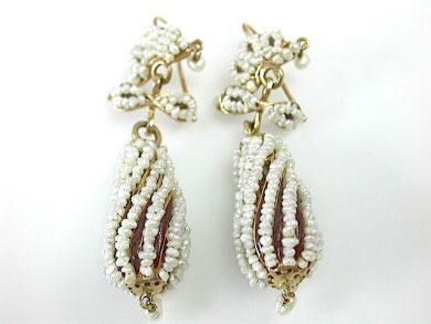 71092-April/Pearl Drop Earrings Cynthia Findlay Antiques CFA1304152