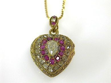 71174-April/Antique Heart Pendant Cynthia Findlay Antiques CFA1304188