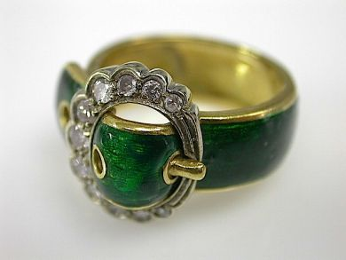 Enamel Buckle Ring