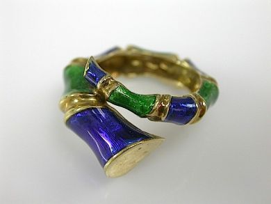 71174-April/Enamel Wrap Ring Cynthia Findlay Antiques CFA1304179