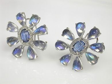 Floral Moonstone Earrings