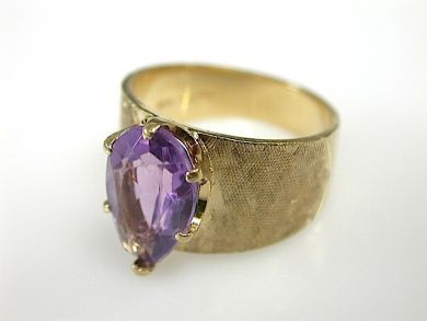 Pear Shaped Amethyst Ring