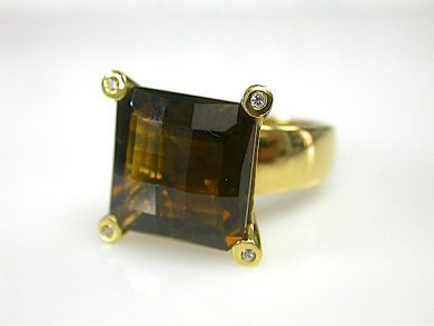 71174-April/Smoky Quartz Ring CFA1304157