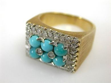 71174-April/Turquoise Ring CFA1304198