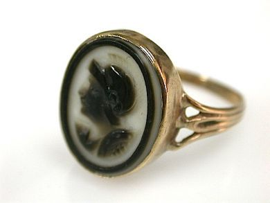 71231-May/Agate Cameo Ring CFA130444