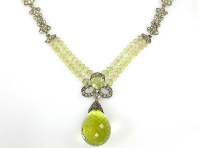 71231-May/Lemon Quartz Necklace CFA1304462