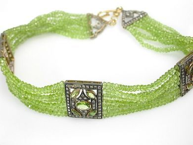 71272-July/Peridot Choker CFA1304463