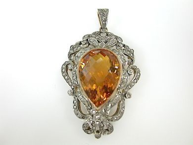 Custom Made Citrine Pendant