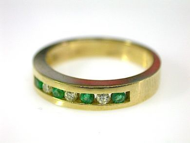 71350-May/Emerald and Diamond Band Cynthia Findlay Antiques CFA1304494
