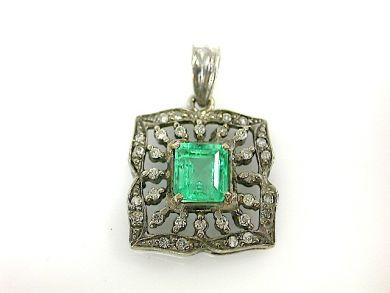 71359-May/Emerald and Diamond Pendant CFA130553