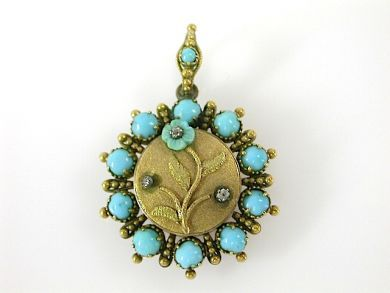 71359-May/Turquoise Mourning Brooch CFA1305271