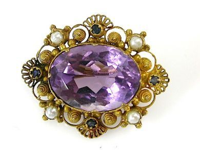 71422-May/Amethyst Canetielle Brooch CFA1305162