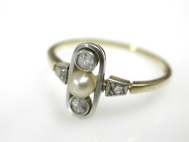 71422-May/Art Deco Pearl Ring CFA1305125
