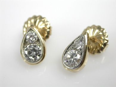 71422-May/Diamond Tear Drop Earrings CFA1305126