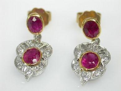 71422-May/Ruby and Diamond Earrings CFA1103117