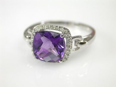 71597-May/Amethyst Halo Ring CFA130601
