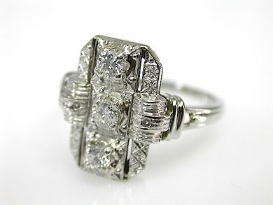 71597-May/Art Deco Diamond Ring CFA1305344