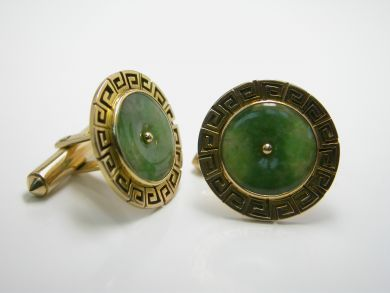 71635-Jade/Greek Key Jade Cufflinks DSCN6566