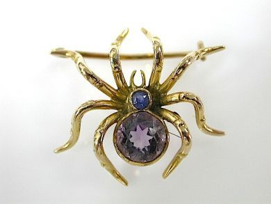 71635-Jade/Spider Brooch CFA1305341