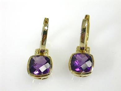 71678-May/Amethyst Drop Earrings CFA130618