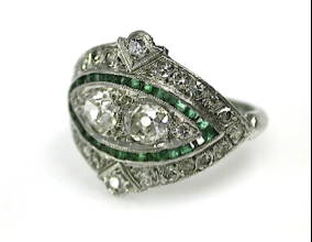 71678-May/Art Deco Diamond Ring CFA1305279  2