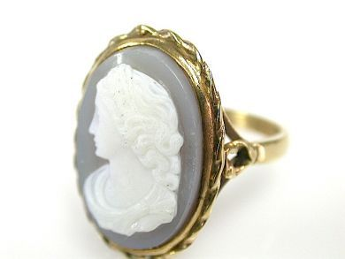 71678-May/Chalcedony Cameo Ring CFA130660