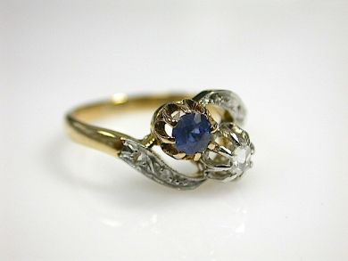 71678-May/Sapphire and Diamond Ring CFA1304388