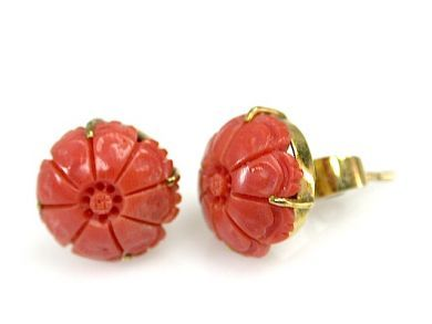 71741-June/Floral Coral Earrings CFA1305250