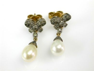 71741-June/Pearl and Diamond Earrings CFA1306108
