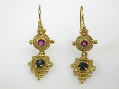 71741-June/Ruby and Sapphire Earrings CFA1305257