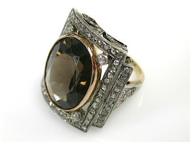 71741-June/Smoky Quartz Ring CFA130415