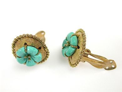 71741-June/Turquoise Earring Clips CFA1305253
