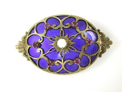 71741-June/Victorian Enamel Brooch CFA1305236