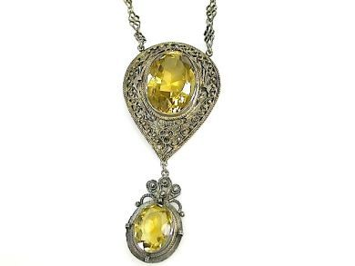 71783-July/Citrine Necklace CFA1306168